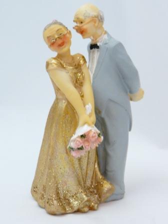 Tortenfigur Rosenstrau zur Goldenen Hochzeit