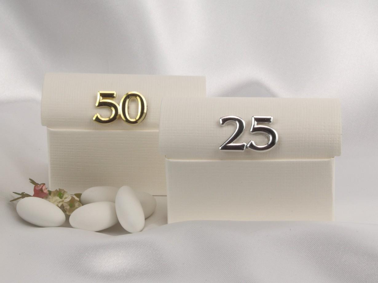 Gastgeschenk zur Silberhochzeit mit einer 25 in Silber