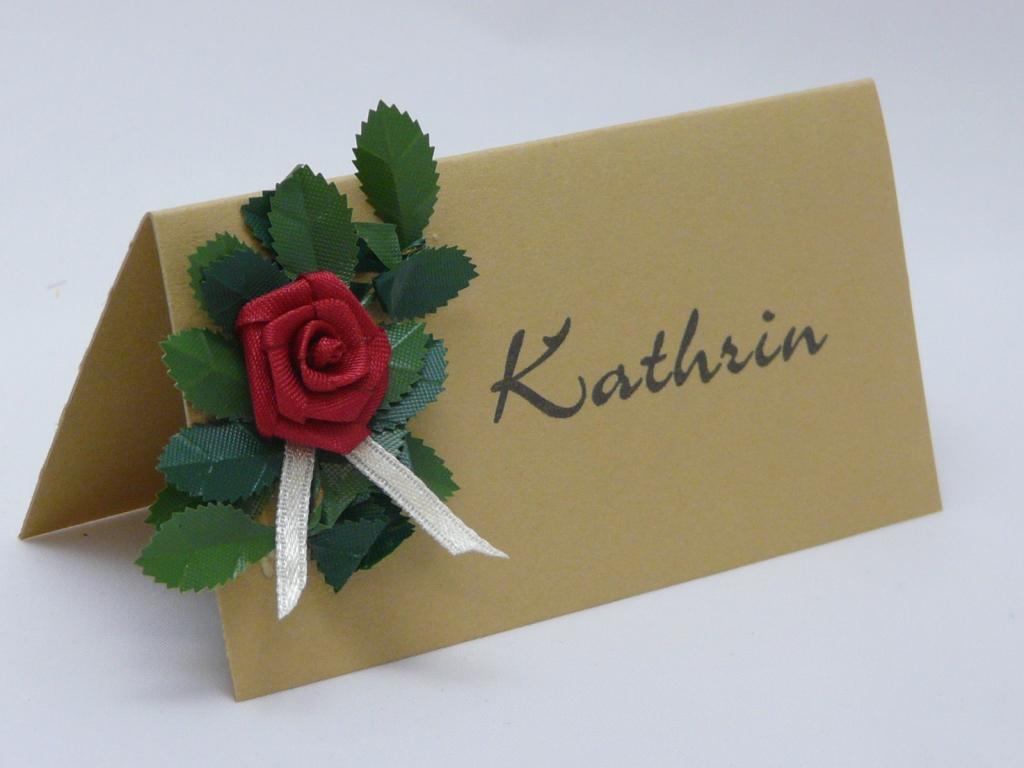 Tischkarte Goldene Hochzeit Silberhochzeit