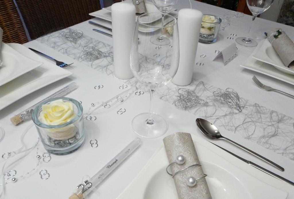 Gastgeschenk Glasrhrchen Silberhochzeit Goldene Hochzeit