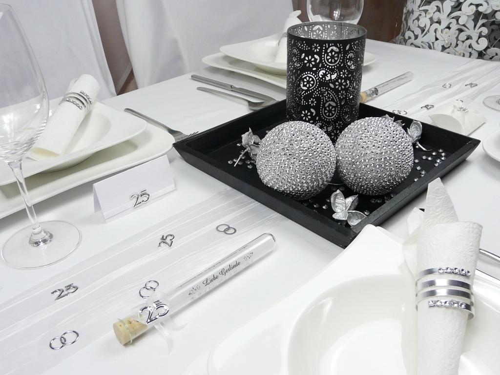 Tischdekoration Strasskugel Discokugel bei Tischdekoonline