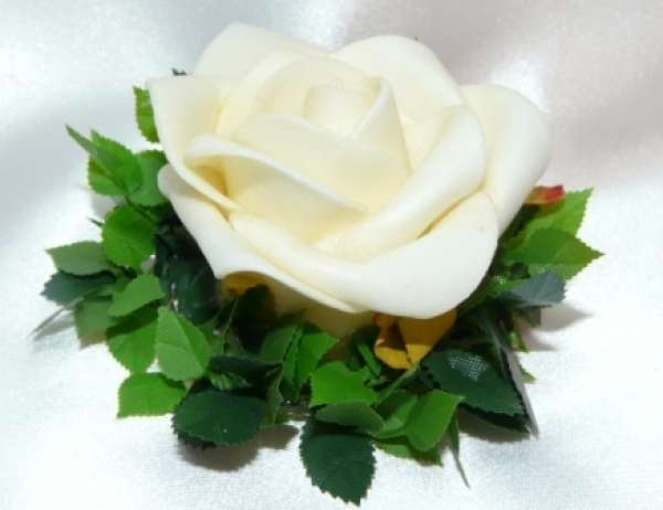 Gastgeschenk Rose in Rosenblttern Zur Hochzeit Silberhochzeit