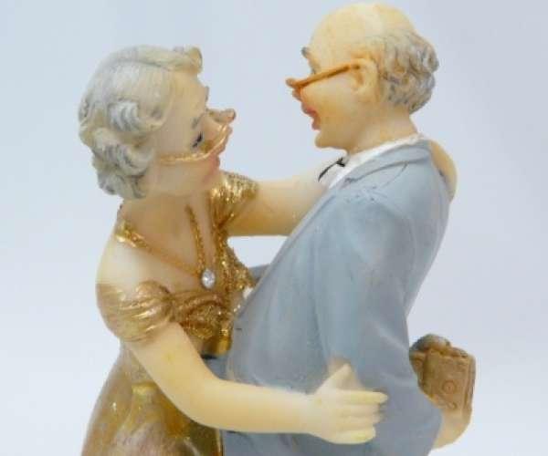 Tortenfigur Goldene Hochzeit Geschenk