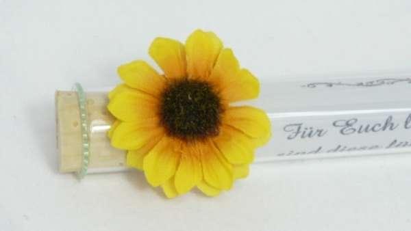 Gastgeschenk Sonnenblume bei Tischdekoonline