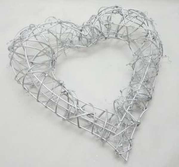 Groes Herz in Silber oder Gold Tischdeko oder Kirchendeko