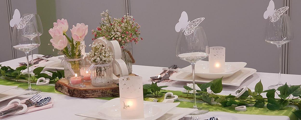 Tischdekoonline auf Hochzeitsmessen und Presse