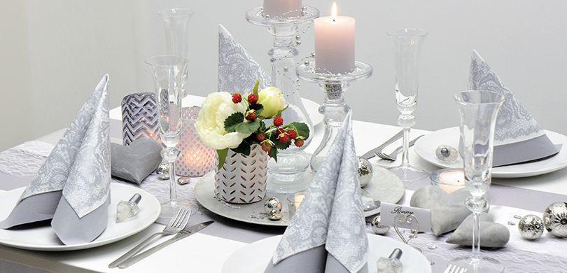 Tischdeko Silberhochzeit Selber Machen