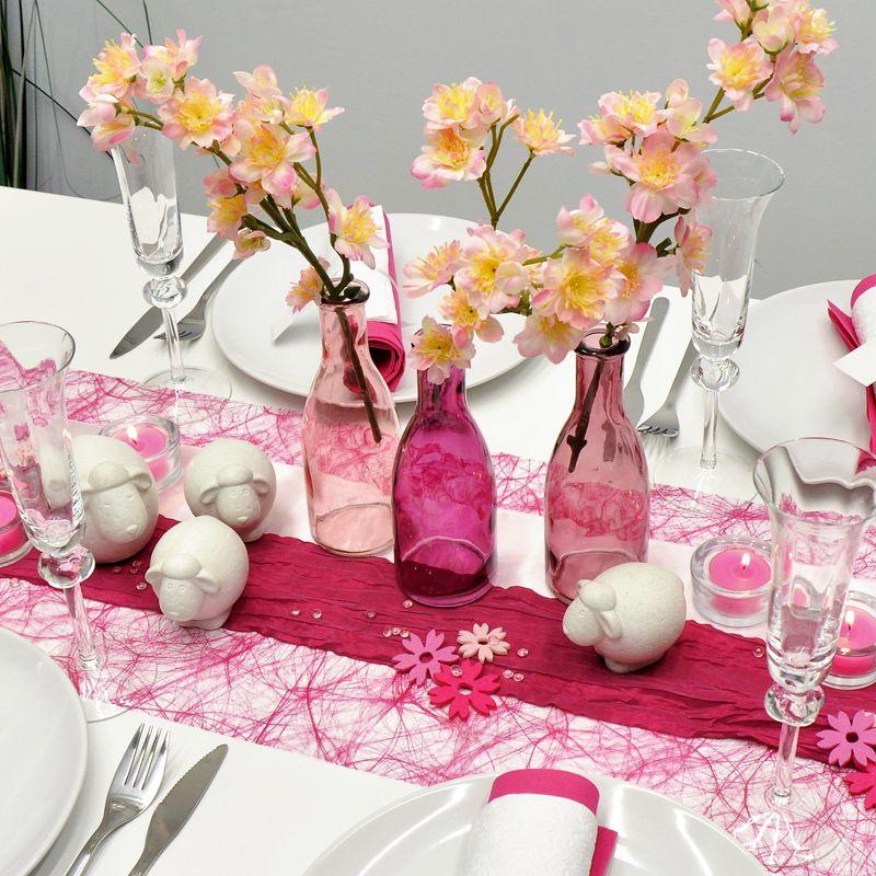 Tischdeko Taufe Rosa Grau