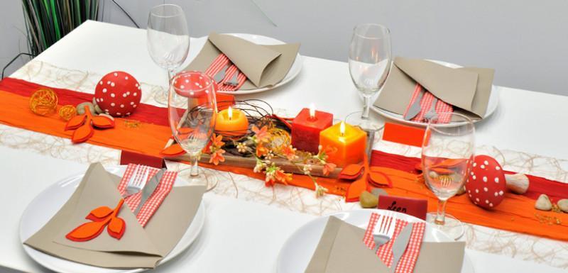 Tischdeko Rot Orange Gelb