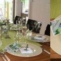 Tischdekoration Frühling in grün