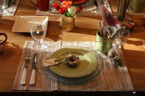 Tischdekoration Vögelein Tischset