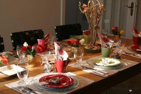 Tischdekoration Vögelein komplette Tischdeko