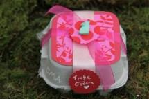 Basteln mit Eierkartons Gastgeschenk pink