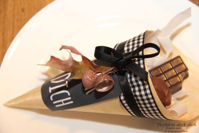 Herbsttischdeko Gastgeschenk