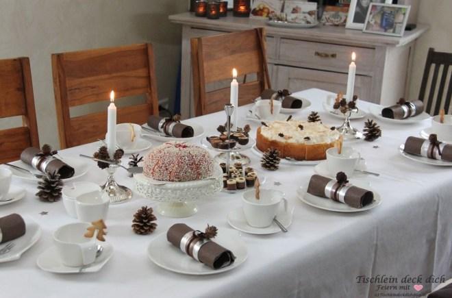 Weihnachten Kaffeetafel