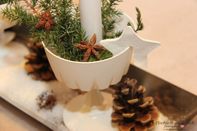 Adventsdekoration Kerzendeko Weihnachten