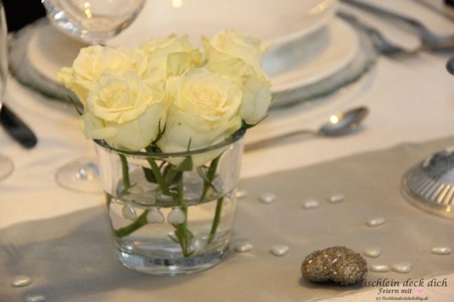 Silberhochzeit Blumenschmuck