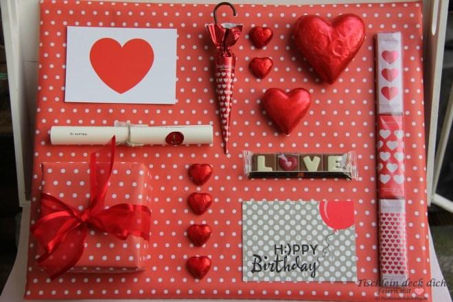 Geburtstagsgeschenk Moodboard