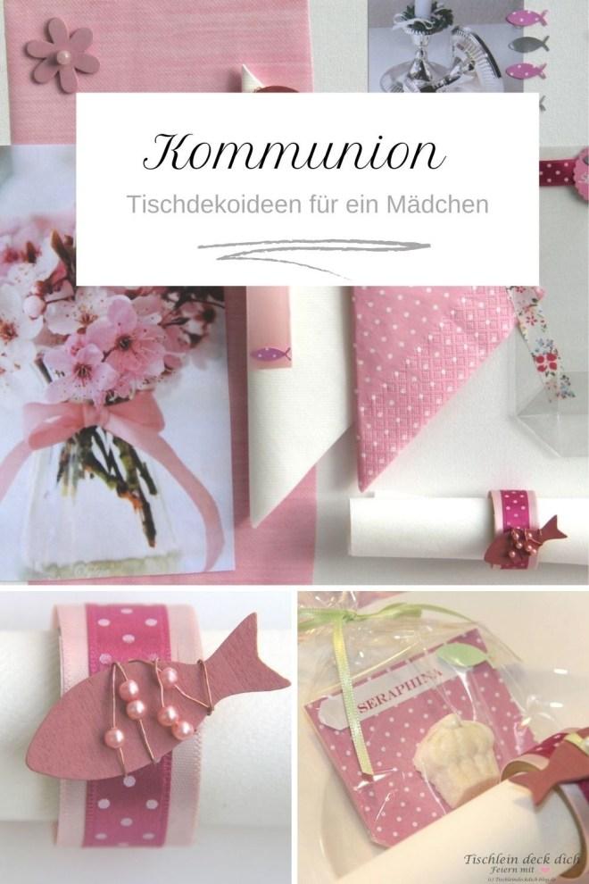 Kommunion Mädchen rosa