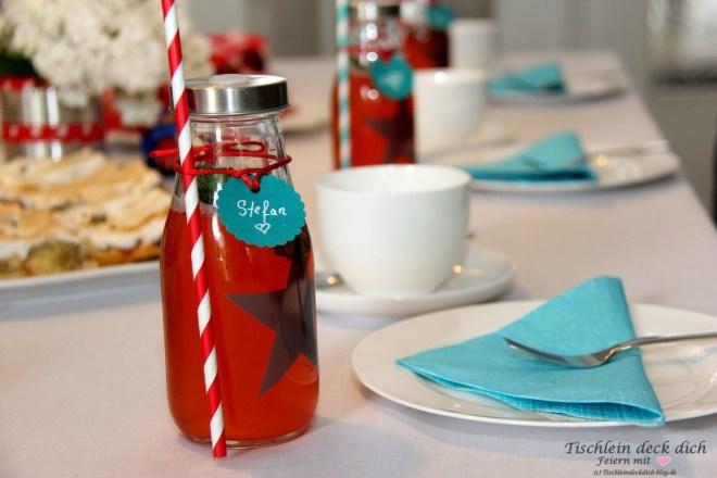 Erdbeere Rharbarber Sirup Strohhalmflasche