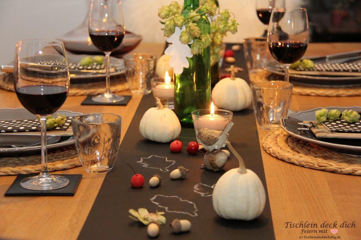 Herbst Ist Wenn Es Gemutlich Wird Ideen Fur Eine Herbstliche Tischdekoration Tischlein Deck Dich
