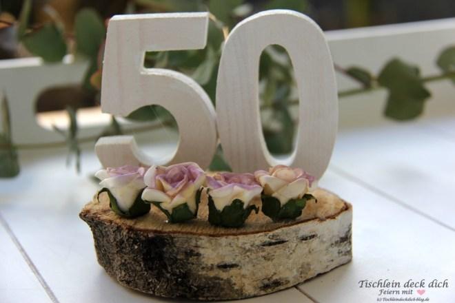Vintage Tischdekoration Zum 50. Geburtstag