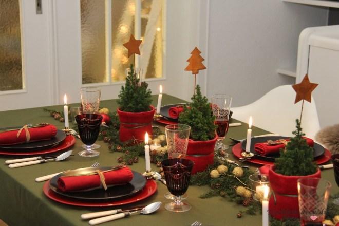 klassische weihnachtliche Tischdekoration