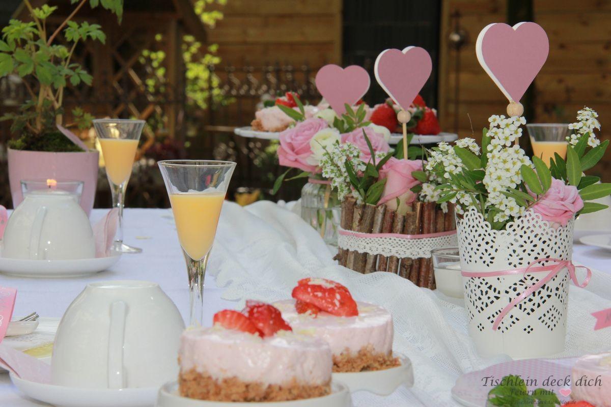 Liebenswerte Tischdeko zum Muttertag