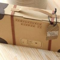 Kreative Geschenkverpackung basteln - ein Geburtstagskoffer geht auf die Reise