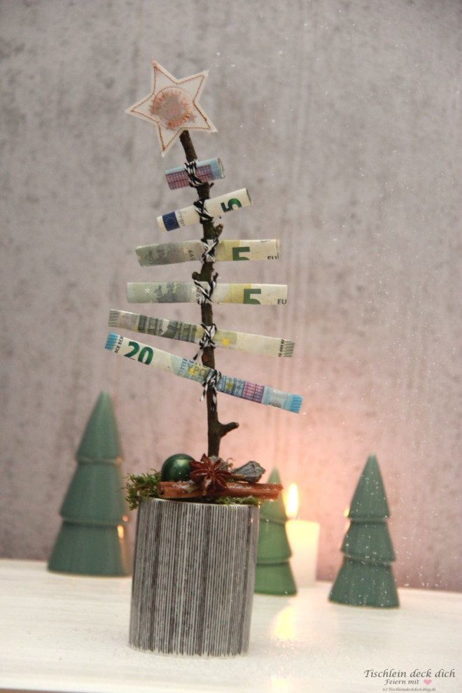 das geht fix no 26 oh tannenbaum geldgeschenk zu. Black Bedroom Furniture Sets. Home Design Ideas
