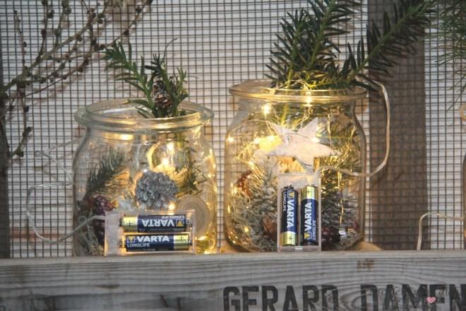 Lichterketten im Weckglas