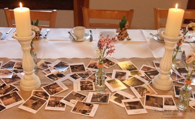 Tischläufer aus alten Fotos