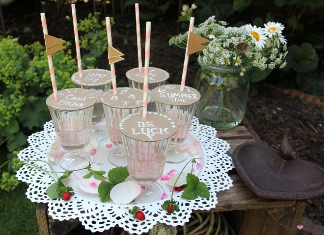 Insektenschutz für Gläser kreative Idee für den Sommer