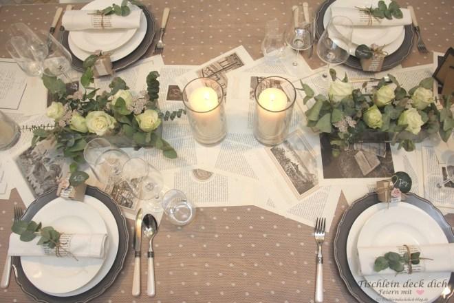 Nachhaltige Tischdekoration zur Hochzeit