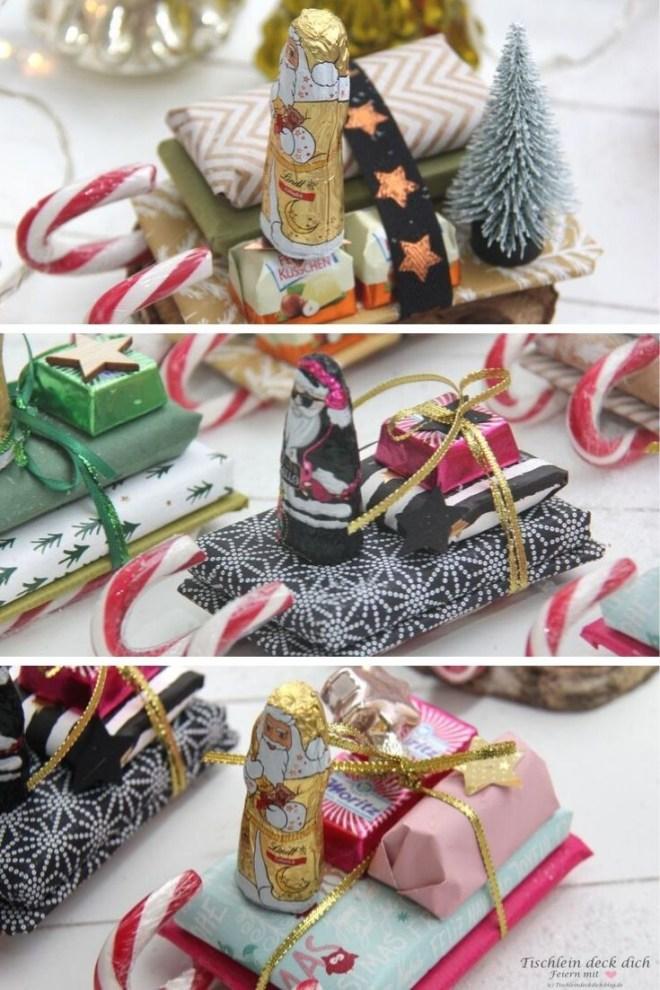 Nikolausgeschenk basteln mit Zuckerstangen