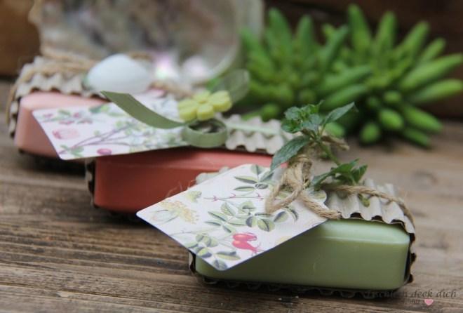 kleine Aufmerksamkeit hübsch verpackte Seife