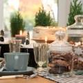 Rustikale weihnachtliche Tischdeko