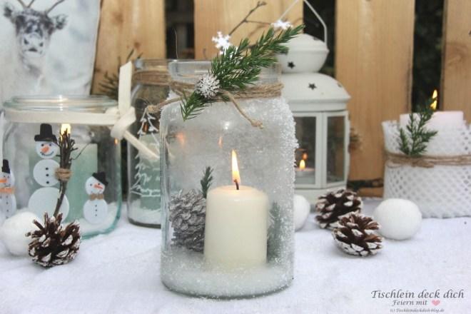 Weckgläser winterlich dekorieren