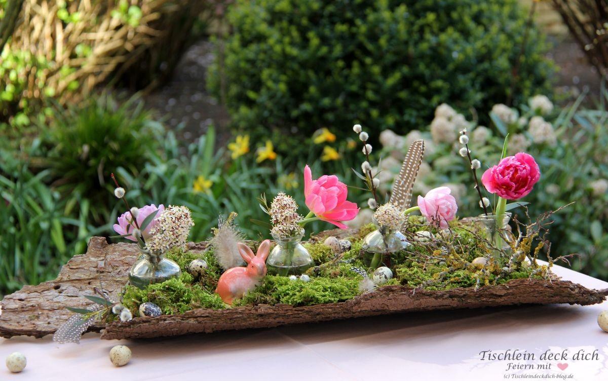 Kreativ Freitag No. 8   Frühlingsdeko mit Baumrinde   Tischlein ...