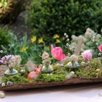 Kreativ Freitag No. 8 - Frühlingsdeko mit Baumrinde