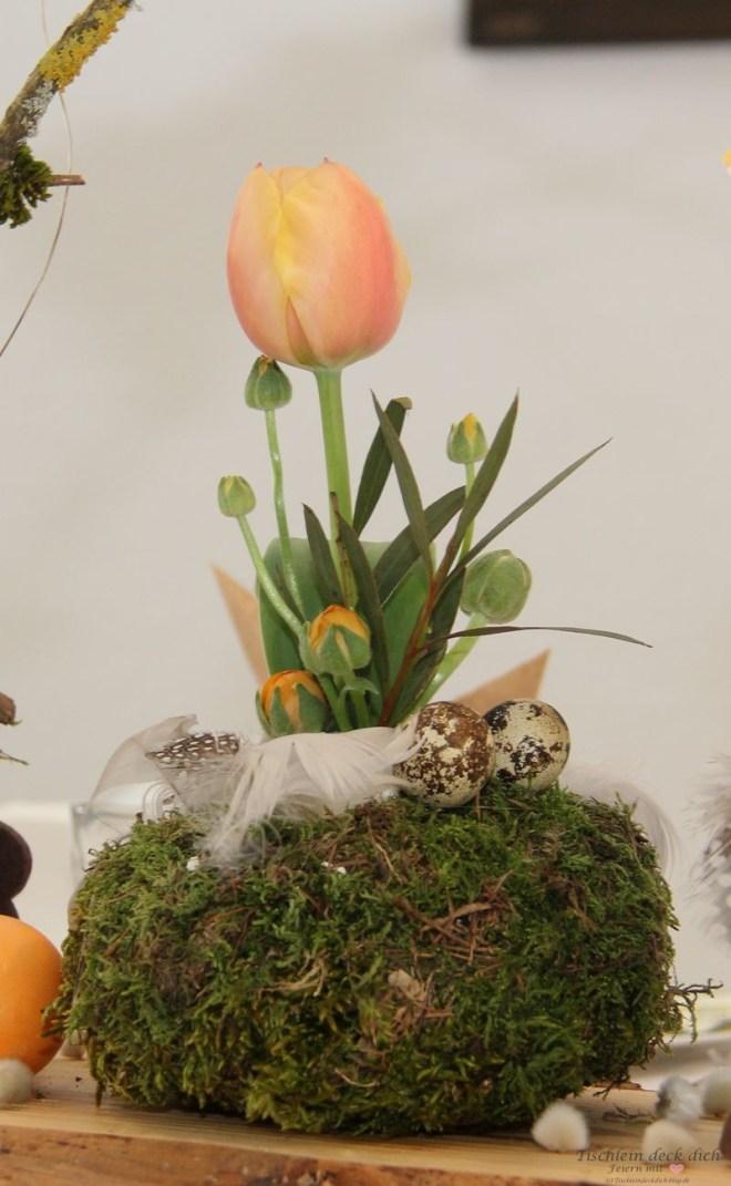Oesterliche Blumendekoration DIY