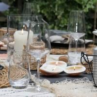 Sommerliche Tischdeko im Garten - eine spontane Idee