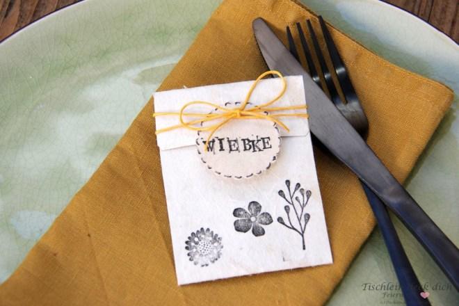 Tischkarte aus Tetrapak