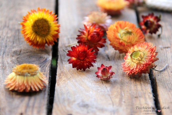 Strohblumen sind im Trend