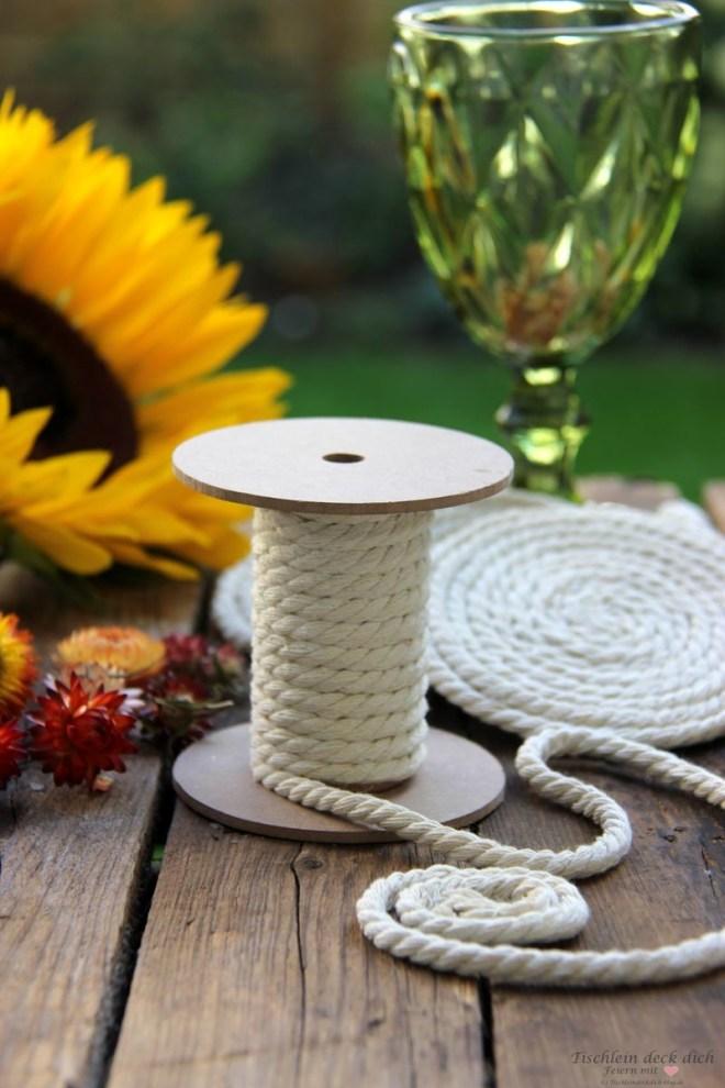 Untersetzer selber machen - ein einfaches DIY mit Kordel