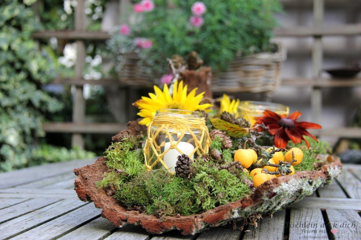 Herbstdeko mit Baumrinde   Kreativ Freitag No. 8   Tischlein deck ...