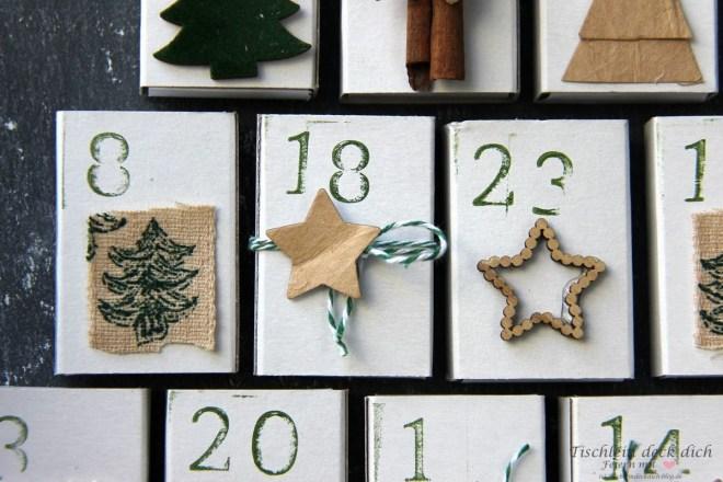 DIY Adventskalender aus Streichholzschachteln