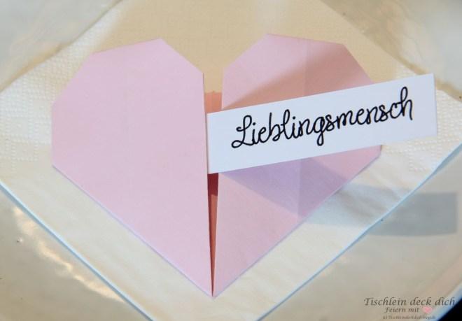 Origamiherz falten