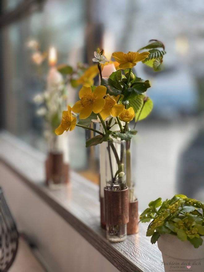 Blumendeko für unser Wohnmobil Dinner im Skoolie