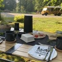 Camping Frühstück in klösterlichem Ambiente